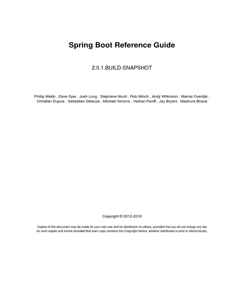 Spring Boot Reference | Information Technology Management
