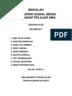 Pengaruh Sosial Media