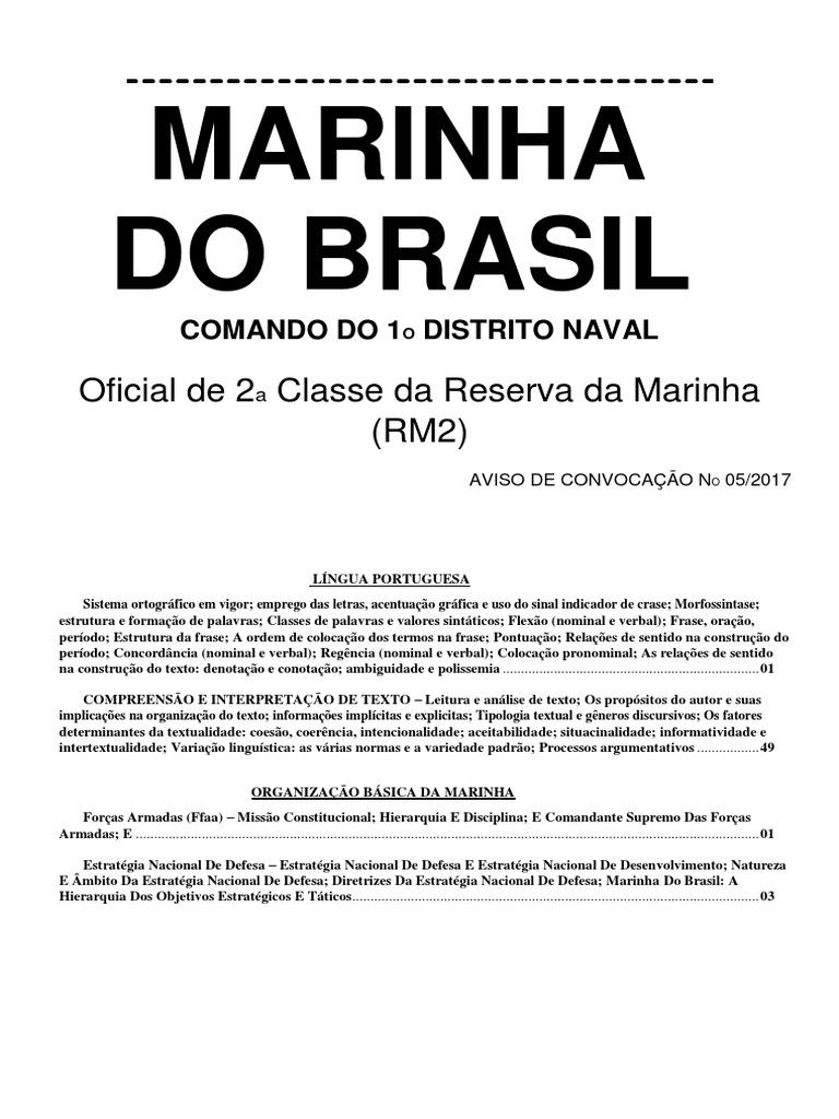 00 - Apostila Completa - Português e Formação Militar Naval a821bf681e64b
