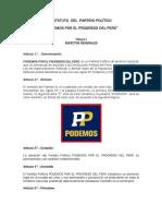 Estatuto Podemos Perú