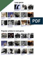 ListenMusic.FM Popular Artists