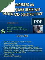 Earthquake Awareness - 23.06.2007 Ppt for Sir