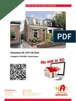 Brochure Antonlaan 49 Te Zeist