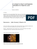 Aprender Português com música - Artigo 1