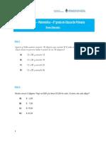 ItemsLiberados Matematica Primaria 6