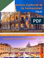 Patrimonio Cultural de la Humanidad Italia