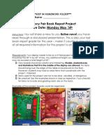 lit fair book report rubric 2018