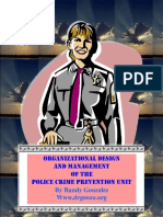 Organizational Design and Management of the Police Crime Prevention Unit