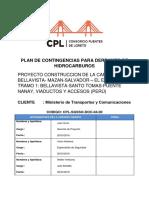 Plan de Contingencia Para Derrames de HidroCarburos