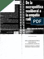 Valverde, Clara - De La Necropolítica Liberal a La Empatía Radical