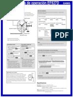 Manual Casio EF527D