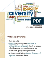 Diversity, Openness and Acceptance