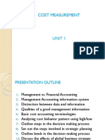Unit 01 ( Cost Measurement)