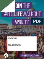 #ProLifeWalkout Flyer 1