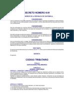 Decreto Número 6-91 de Congreso de la República de Guatemala, Código Tributario