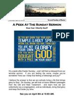 Pastor Bill Kren's Newsletter - April 8, 2018