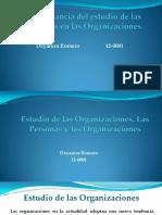 Importancia Del Estudio de Las Personas en La Organizaciones