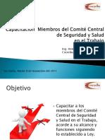 Capacitacion Miembros de Comité de Seguridad y Salud en El Trabajo