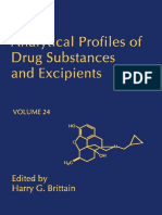 Analytical Profiles of Drug Substances and Excipients, Vol 24