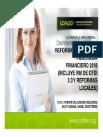 Reforma Fiscal y Panorama Financiero 2018