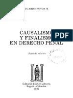 Causalismo y Finalismo en -Novoa