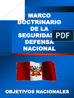 2.- Marco Doctrinario de La Seguridad y Defensa Nacional