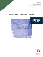 Sports Halls - Sizes Layouts DG
