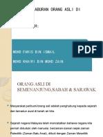 Orang Asli Di Semenanjung,Sabah & Sarawak