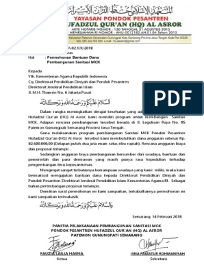 Surat Permohonan Mck Docx