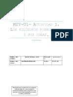MIV-U1- Actividad 1. Los filósofos posmodernos y sus ideas.