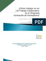 Trabajar en Un Foro de Trabajo Colaborativo en el Programa Formación de Formadores (UNAD)