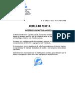 Cir 28-2018- Interrupción Actividad Oficial - Influenza Equina