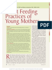 Infant Feeding Practices of Young Mothers