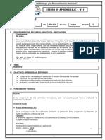 SESION DE APRENDIZAJE N 1 ARITMETICA RAZONES 3RO SEC.docx