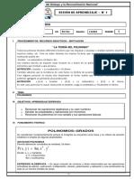 SESION DE APRENDIZAJE N 1 polinomios  3rO SEC.docx