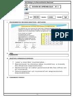SESION DE APRENDIZAJE N 2 ARITMETICA NUMERACION 1RO  SEC TERMINADO.docx