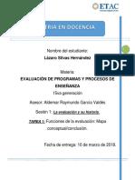 TAREA_SEM1_SIHEL EVALUACIÓN DE PROGRAMAS Y PROCESOS DE ENSEÑANZA