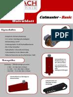 Datenblatt Cutmaster Basic