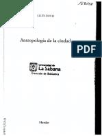 Antropología de La Ciudad. Parte 1