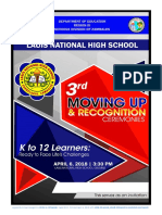 Lauis National High School - 3rd Moving Up and Recognition Ceremonies Program Invitation