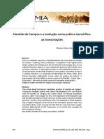 Haroldo de Campos e a tradução Como Prática Isomórfica