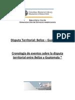 Cronología de Eventos Sobre La Disputa Territorial Entre Belize y Guatemala