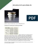 Histoire Et Fabrication de La Porcelaine de Limoges