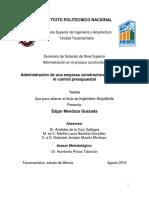 Administración de una empresa constructora on base en el control presupuestal.pdf