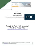 Primer Tratado 1763, Biblioteca Columbus, OEA