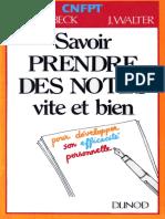 1987 - Dunod - Savoir Prendre des Notes Vite et Bien.pdf