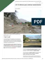 Lambayeque Invierte S_ 12 Millones Para Culminar Mantenimiento de Vías _ Noticias _ Agencia Peruana de Noticias Andina