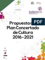Propuesta de Plan Condertado de Cultura 2016-2021