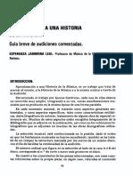 Aproximacion a Una Historia de La Musica.
