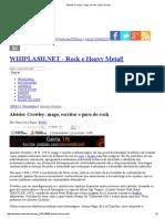 Aleister Crowley  Mago, Escritor e Guru Do Rock